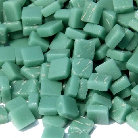 8mm Square Tiles - Emerald Green Matte - 50g